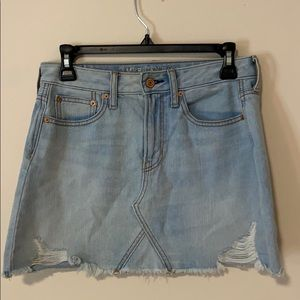 American Eagle Light Wash Jean Skirt